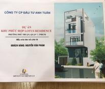Cần tiền bán gấp lô đất 5x18,5m dự án Lotus Residence đường Đào Trí quận 7, giá 37.5 tr/m2