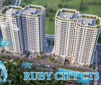 Bán căn góc 3 phòng ngủ, ban công Đông Nam, chỉ hơn 1.4 tỷ, đã có nội thất, dự án Ruby CT3
