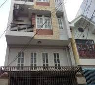 Nhà trệt, 3 lầu, 2 mặt tiền đường, xây kiên cố, DT 4m x 22m. An Hội, P. 13, Gò Vấp