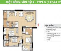 Bán căn hộ Era Town 147m2 3PN, 4WC mới 100% giá 2.2 tỷ