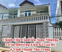 Chính Chủ Cần Tiền Sang Nhượng 2 Căn Biệt Thự Liền Kề Gía Rẻ ở Vĩnh Thạnh Nha Trang Lh: 08.22499179