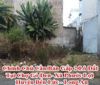 Chính Chủ Cần Bán Gấp 2 Lô Đất Tại Chợ Gò Đen- Xã Phước Lợi - Huyện Bến Lức - Long An