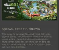 Biệt thự biển Novaworld Hồ Tràm - tuyệt tác giữa Rừng & biển - chỉ 6 tỷ 1 căn 8x20  hotline 0916 026 076