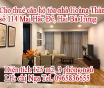 Cho thuê căn hộ tòa nhà Hoàng Thành, 114 Mai Hắc Đế, Hai Bà Trưng, Hà Nội