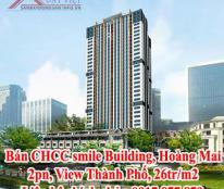 Bán CHCC smile Building, Hoàng Mai, 2pn, View Thành Phố, 26tr/m2