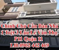Chính Chủ Cần Bán Nhà 1 Trệt 3 Lầu Lê Văn Thọ P11 Quận Gò Vấp