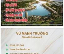 Chính chủ cần bán 1 số nền biệt thự tại Đảo Ngọc Tuần Châu Hạ Long. Diện tích từ 500 đến 700m2
