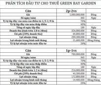 Green bay garden Hạ Long sinh lời 150-170 triệu/năm từ số vốn 800 triệu/căn,ck mua 9%,vay 70% ls 0%/12 tháng