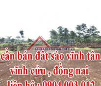 CẦN BÁN ĐẤT SÀO THANH BÌNH, TRẢNG BOM, ĐỒNG NAI, LH: 0904003012