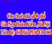 Cho thuê nhà số 8 phố Gia Ngư Hoàn Kiếm ,Hà Nội.