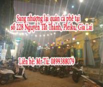 Sang nhượng lại quán cà phê tại số 228 Nguyễn Tất Thành, Pleiku, Gia Lai