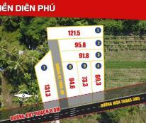 Bán gấp lô góc mặt tiền đường 8m khu Diên Phú
