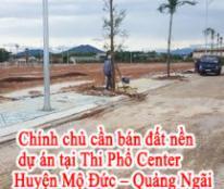 HOT HOT HOT Chính chủ cần bán đất nền dự án tại Thi Phổ Center - Huyện Mộ Đức - Quảng Ngãi