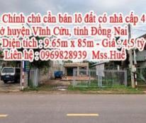 Chính chủ cần bán lô đất có nhà cấp 4 ở huyện Vĩnh Cửu, tỉnh Đồng Nai