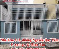 Nhà hẻm ô tô, đường Nguyễn Quý Yêm, P. An Lạc, Q. Bình Tân