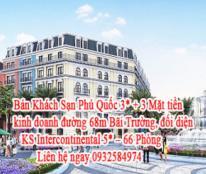 Bán Khách Sạn Phú Quốc 3* + 3 Mặt tiền kinh doanh đường 68m Bãi Trường, đối diện KS Intercontinental 5* - 66 Phòng.