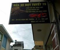Cần sang nhượng tiệm rửa xem tại D15, Khu quy hoạch Bà Triệu , Phường 4, TP Đà Lạt, Lâm Đồng, LH 0941674465