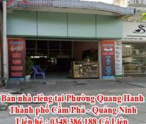 Bán nhà riêng tại Phường Quang Hanh - Thành phố Cẩm Phả - Quảng Ninh