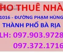 Cho Thuê Nhà Mặt Tiền Đường Phạm Hùng, Tp Bà Rịa, Tỉnh Bà Rịa Vũng Tàu