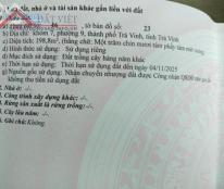 Chính chủ cần bán đất tại Khóm 7, Đường Nguyễn Chí Thanh, Phường 9, Thành phố Trà Vinh, Trà Vinh