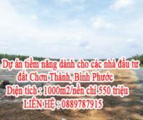 Dự án tiềm năng dành cho các nhà đầu tư đất Chơn Thành LH : 0889787915