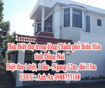 Bán Biệt thự trong lòng Thành phố Biên Hòa (tỉnh Đồng Nai)