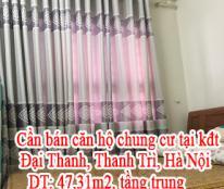 Tôi cần bán căn hộ chung cư tại kđt Đại Thanh, Thanh Trì, Hà Nội.