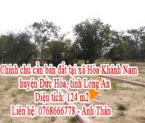 Cần bán đất tại xã Hòa Khánh Nam, huyện Đức Hòa, tỉnh Long An