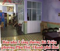 Bán nhà 3 tầng đường Bà Triệu, phường Phú Hội, Thành phố Huế