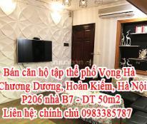 Bán căn hộ tập thể phố Vọng Hà, Chương Dương, Hoàn Kiếm, Hà Nội
