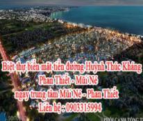 Biệt thự biển mặt tiền đường Huỳnh Thúc Kháng Phan Thiết - Mũi Né, ngay trung tâm Mũi Né - Phan Thiết, gần khu resort Sea Links Phan Thiết, gần khu