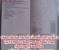 Chính Chủ Bán Nhà Đất Gần Biển, 100% Thổ Cư Tại 9/9 Phước Tường, Phường Phước Long, Nha Trang.