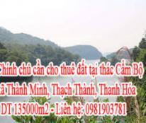 Chính chủ cần cho thuê đất tại thác Cẩm Bộ , xã Thành Minh , huyện Thạch Thành, tỉnh Thanh Hóa