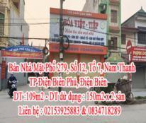 Bán Nhà Mặt Phố 279, Số 12, Tổ 7, Nam Thanh, TP Điện Biên Phủ, Điện Biên.
