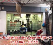 Cho thuê nhà riêng Nguyễn Văn Cừ - Long Biên - Hà Nội
