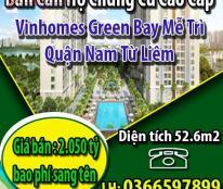 Chính chủ bán căn hộ chung cư cao cấp Vinhomes Green Bay Mễ Trì, Q. Nam Từ Liêm.