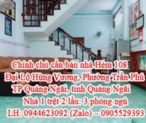 Chính chủ cần bán nhà Hẻm 108 Đại Lộ Hùng Vương, Phường Trần Phú, TP Quảng Ngãi, tỉnh Quảng Ngãi