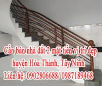 Cần bán nhà đất vị trí đẹp huyện Hòa Thành, Tây Ninh