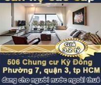 Chính chủ bán căn hộ cao cấp quận 3, đang cho người nước ngoài thuê