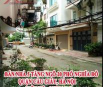 Bán nhà 5 tầng ngõ 20 phố Nghĩa Đô, Quận Cầu Giấy, Hà Nội