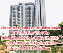 Cần bán căn hộ chung cư Thủ Thiêm Dragon - KDC Thu Thiem Villa 34 ha, phường Thạnh Mỹ Lợi, Quận 2, TP. HCM.