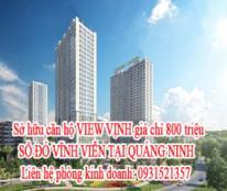Sở hữu căn hộ VIEW VỊNH giá chỉ 800 triệu. SỔ ĐỎ VĨNH VIỄN TẠI QUẢNG NINH