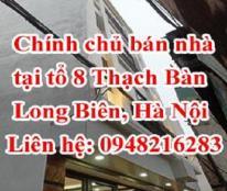 Chính chủ bán nhà tại tổ 8 Thạch Bàn, Long Biên, Hà Nội
