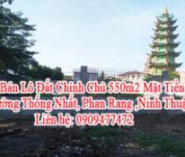 Cần Bán Lô Đất Chính Chủ 550m2 Mặt Tiền 17m Đường Thống Nhất, Phan Rang ,Ninh Thuận.