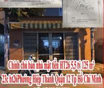 Chính chủ bán nhà mặt tiền HT26 5,5 tỷ- 125 m² 23c, ht26, Phường Hiệp Thành, Quận 12, Tp Hồ Chí Minh