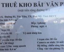 Cho thuê kho bãi và bán đất tại Bà Rịa Vũng Tàu