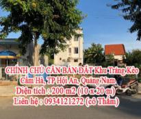 CHÍNH CHỦ CẦN BÁN ĐẤT Khu Trảng Kèo - Cẩm Hà - TP Hội An - Quảng Nam
