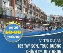 Bán đất nền 105  đườngTây Sơn, Quy Nhơn, đã có sổ đỏ từng nền, chỉ từ 60tr/m2