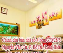 Chính chủ bán nhà số 4 hẻm 370/28/5 Nguyễn Văn Cừ, phường Bồ Đề, Long Biên, Hà Nội