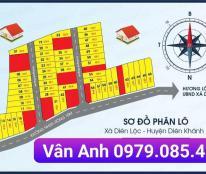 Mở bán 65 lô đất thổ cư tại thôn Bình Lộc xã Diên Lộc huyện Diên Khánh giá chỉ 270tr diện tích 84m2